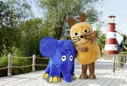Maus und Elefant im Ravensburger Spieleland