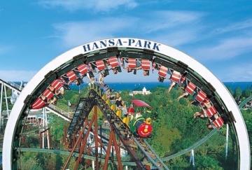 Die Achterbahnen Nessie und der rasende Roland im Hansa-Park auf einem Blick.