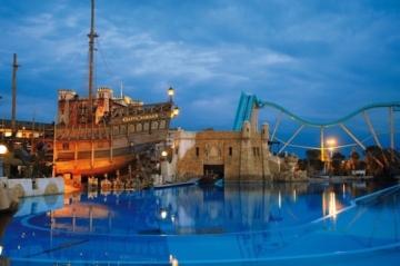 Wasserachterbahn Atlantis im portugiesischem Bereich im Europa-Park