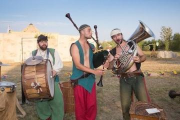 Foto von Musikern im Belantis Freizeitpark.