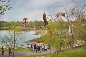 Parkblick auf den Belantis Freizeitpark.