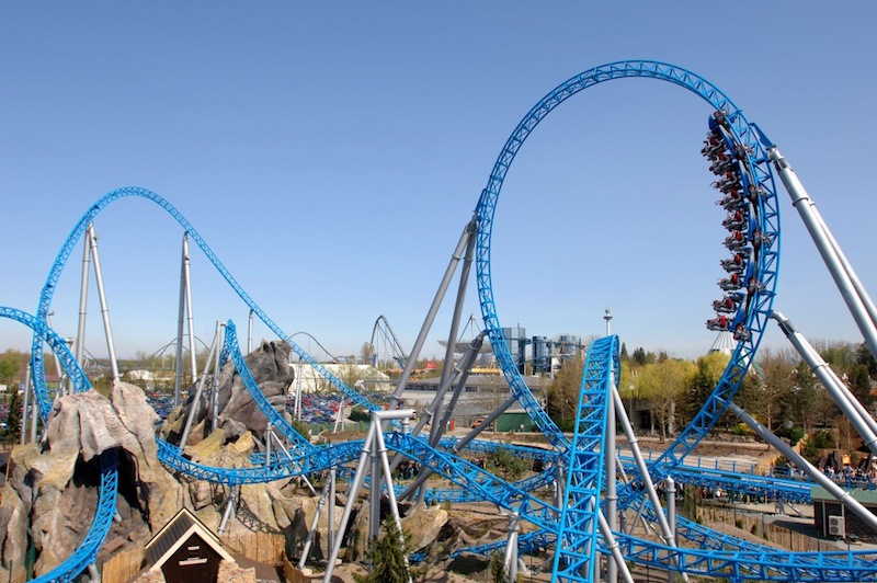 Die Blue Fire im Europa-Park in Rust